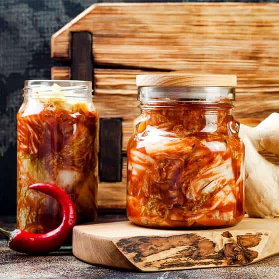 kimchi tarro de cristal